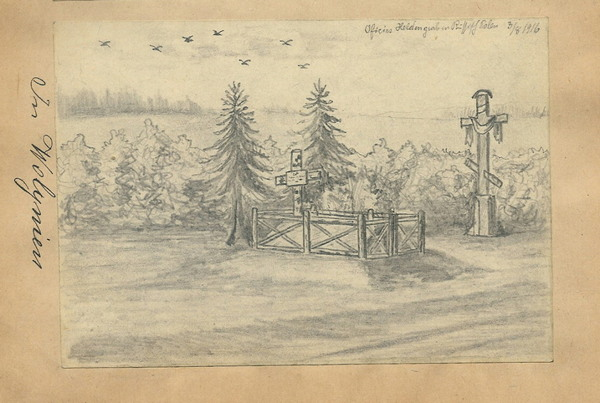 Могила австрійського офіцера, Волинь