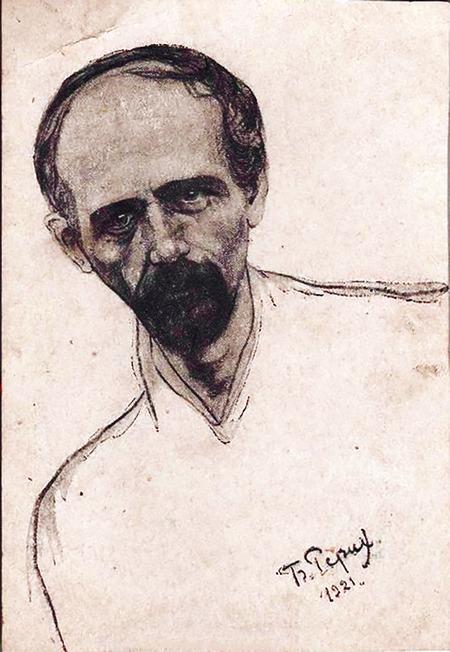 Портрет Миколи Леонтовича, написаний художником Борисом Реріхом. 1921 р.