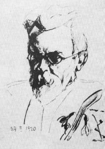Портрет Володимира Вернадського змалюнку його доньки. 1920 р.
