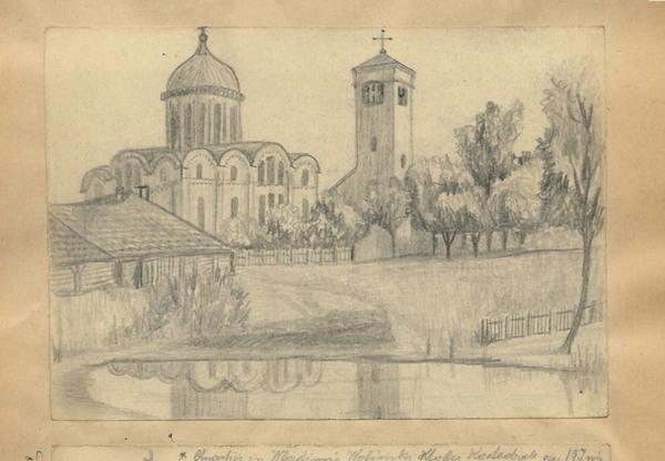 Загальний вигляд на Успенський собор, Володимир-Волинський
