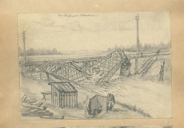 Зруйнований міст поблизу поблизу Володимира-Волинського