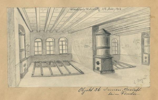 Внутрішній вигляд казарм у Володимирі-Волинському