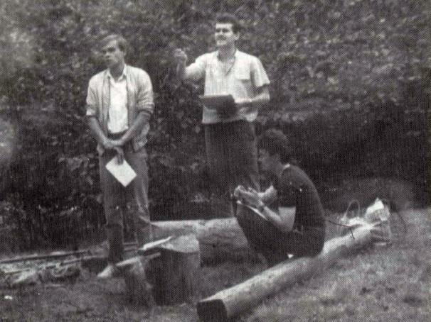 19 серпня 1989 року, гора Маківка. Зліва направо – Р. Козій, І. Деркач, О. Вітович