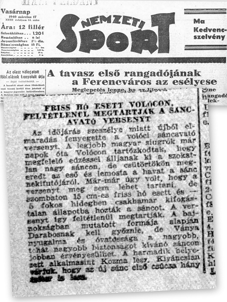 Nemzeti sport про змагання у Воловці