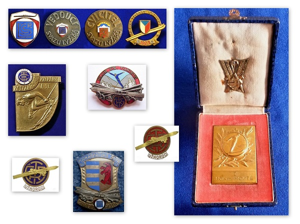 Лижні значки та медалі чехословацького періоду