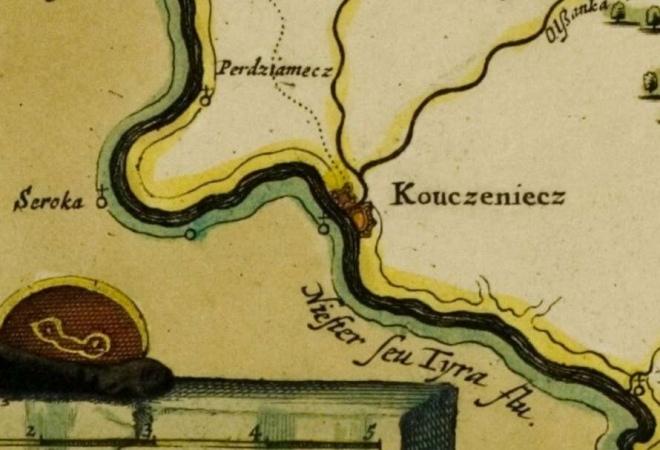 Kouczeniecz на одній із старовинних карт