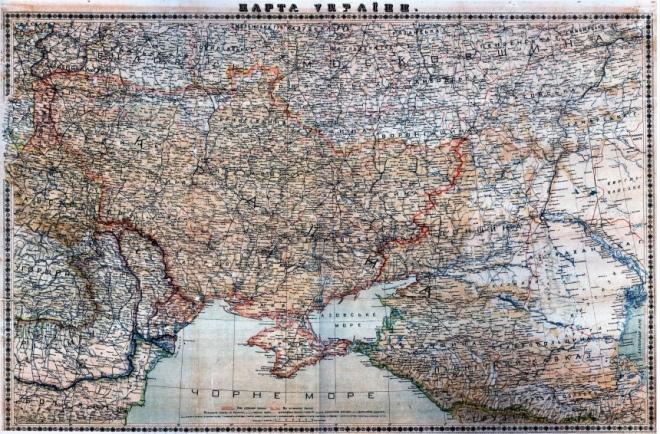 Етнографічна карта України Степана Рудницького. 1918 р.