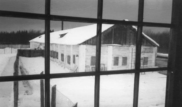 Вигляд барака, де поет провів останні роки життя