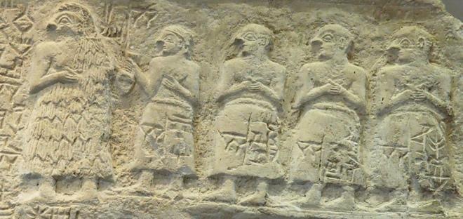 Жерці. Фрагмент рельєфу з Лагашу